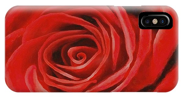 Heart Of A Red Rose IPhone Case