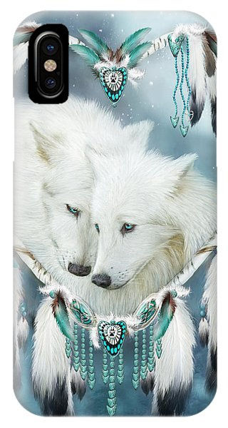 Hearts iPhone Case - Heart Of A Wolf by Carol Cavalaris