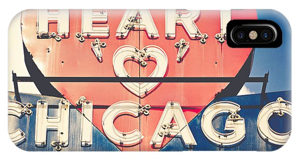 Love iPhone Case - Heart Of Chicago by Emily Kay