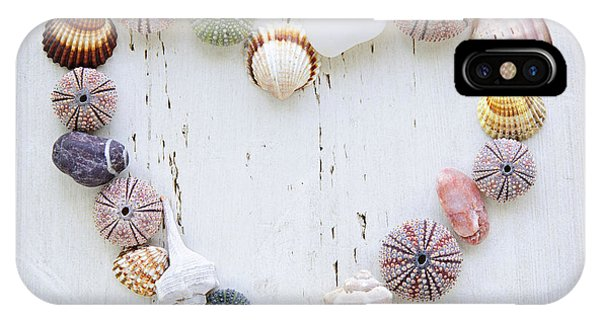 Heart Of Seashells And Rocks IPhone Case