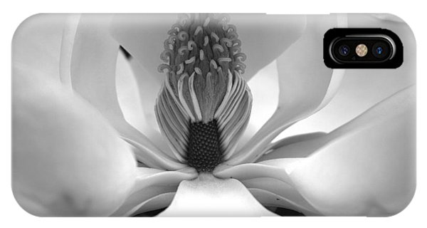 Heart Of The Magnolia Black And White IPhone Case