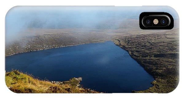 Heart Shape Lake Lough Ouler Wicklow In Ireland IPhone Case