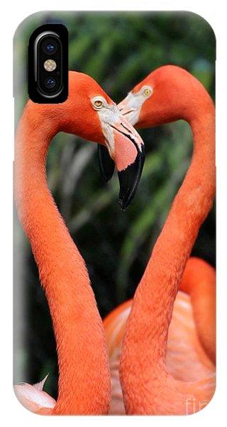 Heart To Heart Flamingo's IPhone Case