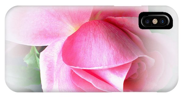 Heartfelt Pink Rose IPhone Case