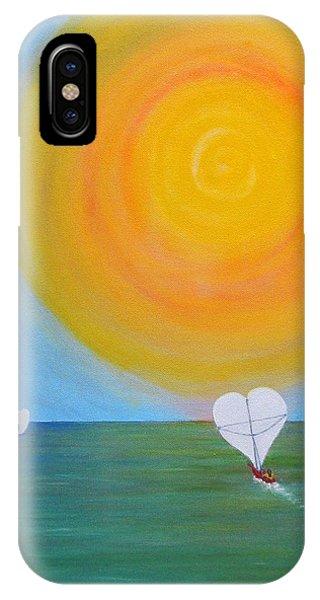 Hearts A-sail On A Hopeful Sea Phone Case by Eileen Lighthawk