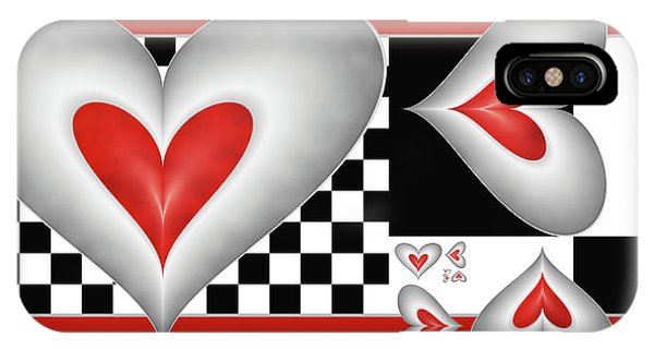 Hearts On A Chessboard IPhone Case