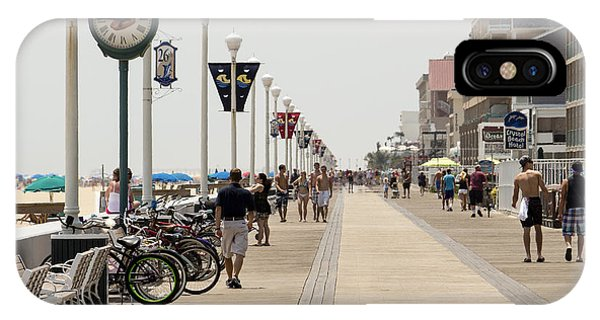 Heat Waves Make The Boardwalk Shimmer In The Distance IPhone Case