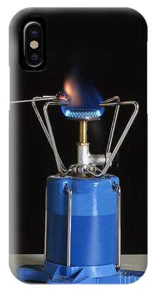 Violet Flame iPhone Case - Heating Potassium Bitartrate by Stephen Oliver / Dorling Kindersley