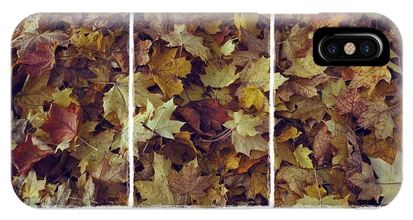 Heavenly Leaves Triptych IPhone Case
