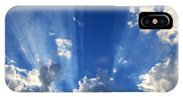 Sonne iPhone Case - Heavenly Light by Nina Prommer