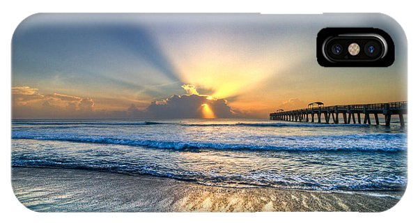 Beautiful Sunrise iPhone Case - Heaven's Door by Debra and Dave Vanderlaan
