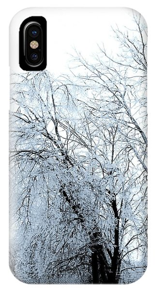 Heavy Ice Tree Redo IPhone Case