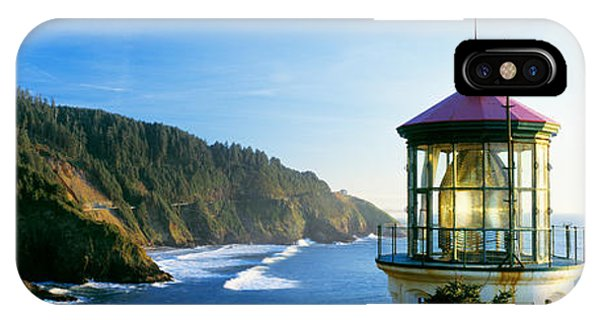 Oceanfront iPhone Case - Heceta Head Lighthouse, Florence by Panoramic Images