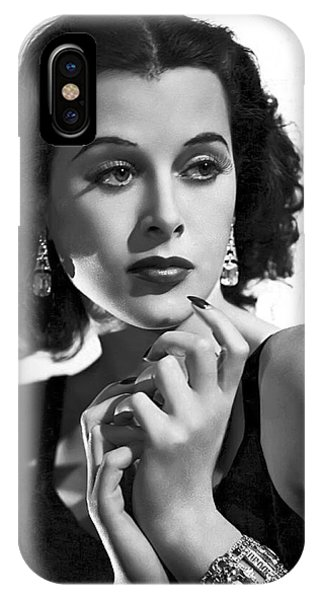 Leading Actress iPhone Case - Hedy Lamarr - Beauty And Brains by Daniel Hagerman