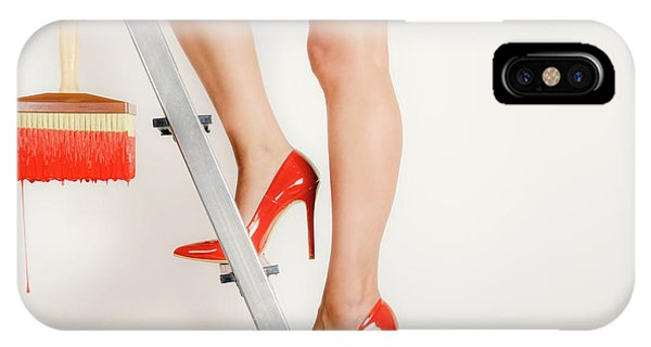 Famous Artist iPhone Case - Heels On A Hot Tin Stair by Sergio Rapagn?