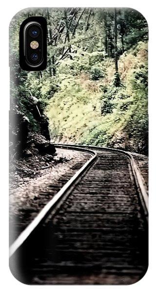 Hegia Burrow Railroad Tracks  IPhone Case