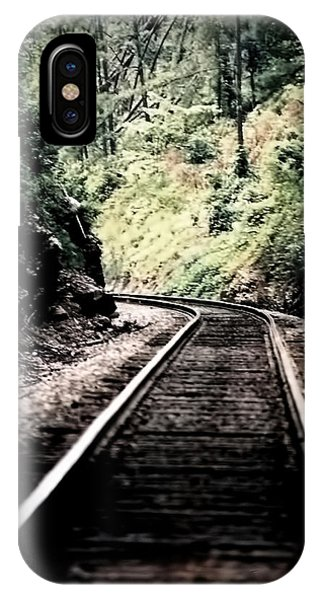 Hegia Burrow Railroad Tracks  IPhone Case