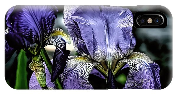 Heirloom Purple Iris Blooms IPhone Case