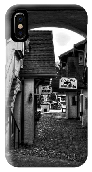 Helen Georgia Side Street In Black And White IPhone Case