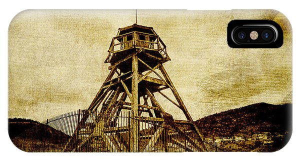 Helena-montana-fire Tower IPhone Case