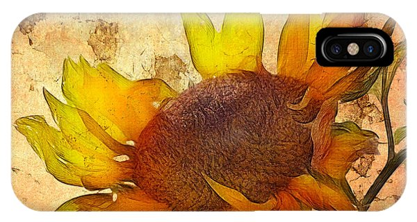 Sunflower iPhone X / XS Case - Helianthus by John Edwards