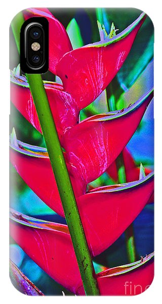 Heliconia Abstract IPhone Case