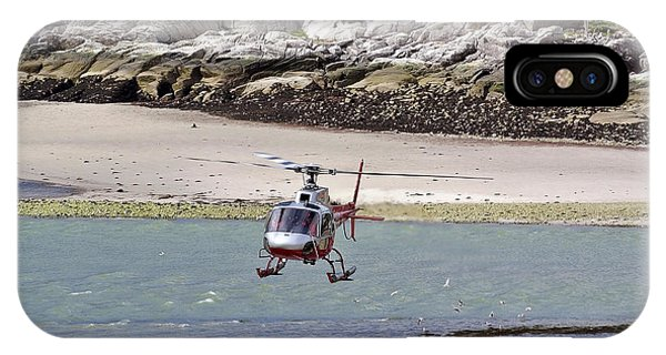 Helicopter Landing In Skagway IPhone Case