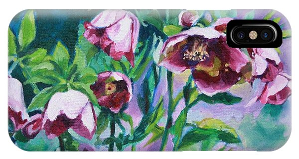 Hellebore Flowers IPhone Case