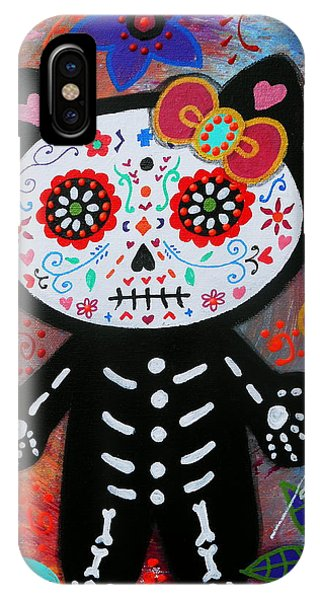 Hello Kitty Dia De Los Muertos IPhone Case
