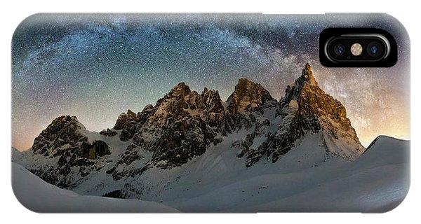 Snowy iPhone Case - Hello Milky Way by Dr. Nicholas Roemmelt
