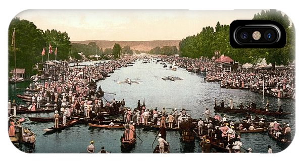 Regatta iPhone Case - Henley Regatta by Library Of Congress/science Photo Library