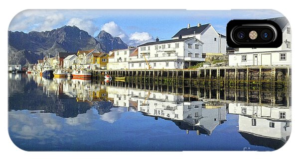 Henningsvaer Harbour IPhone Case