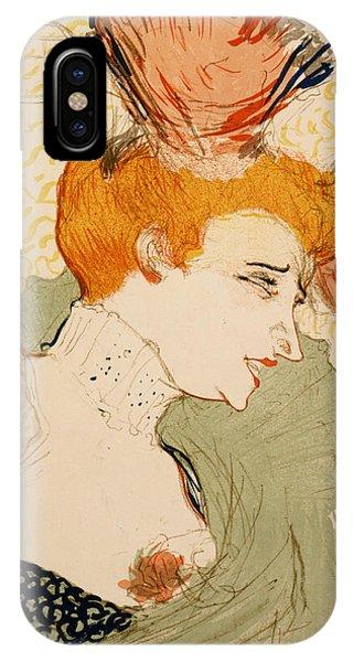 French Painter iPhone Case - Henri De Toulouse Lautrec - Mlle. Marcelle Lender En Buste by Georgia Fowler
