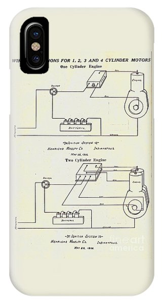 Henricks Magnetos 1906 No.1 IPhone Case