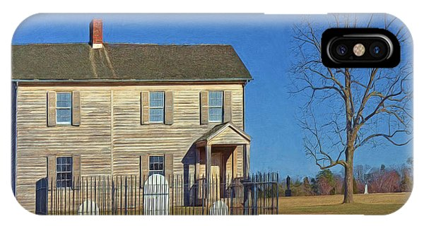 Henry House In Winter / Manassas National Battlefield IPhone Case