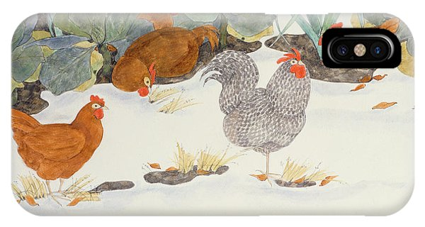 Chicken iPhone Case - Hens In The Vegetable Patch by Linda Benton