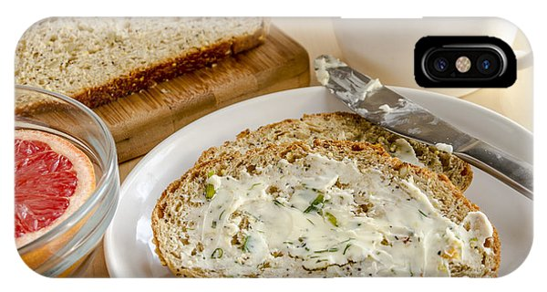 Herb Butter And Whole Grain Bread IPhone Case