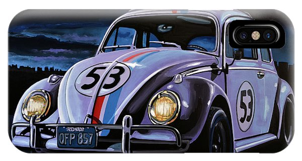 The iPhone Case - Herbie The Love Bug Painting by Paul Meijering