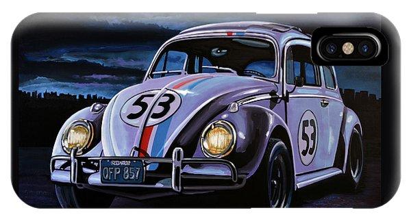 Beetle iPhone Case - Herbie The Love Bug Painting by Paul Meijering