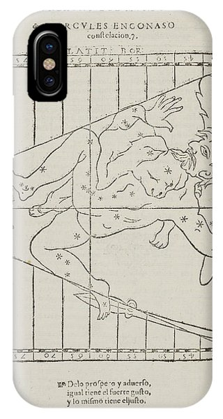 Constellations iPhone Case - Hercules The Warrior Star Constellation by British Library