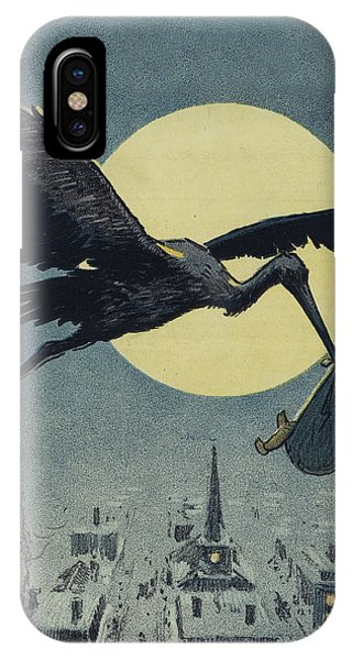 Here Comes The Stork Circa Circa 1913 IPhone Case