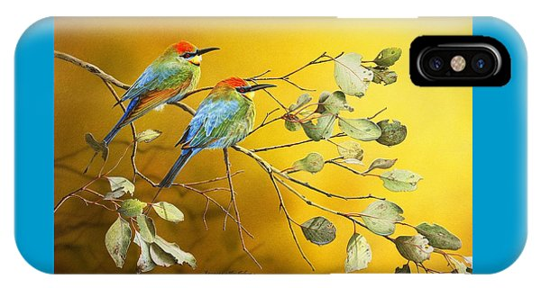 Here Comes The Sun - Rainbow Bee-eaters IPhone Case