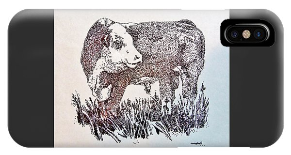 Polled Hereford Bull  IPhone Case
