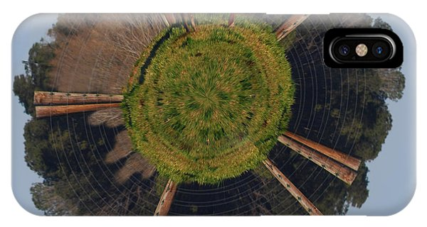 Wheeler Farm iPhone Case - Hereford On Top Of The Pasture Wee Planet by Paulette B Wright