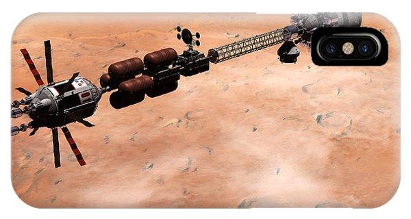 Hermes1 Over Mars IPhone Case