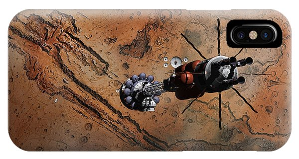 Hermes1 With The Mars Lander Ares1 In Sight IPhone Case