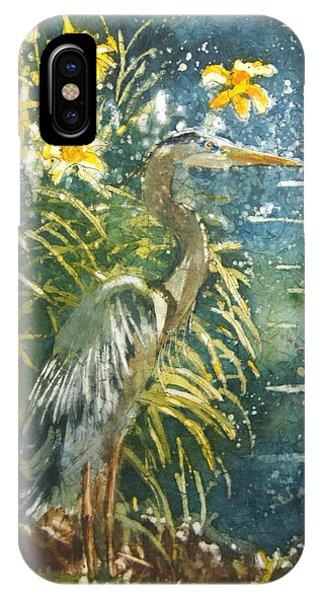 iPhone Case - Heron Afternon by Karen Langley