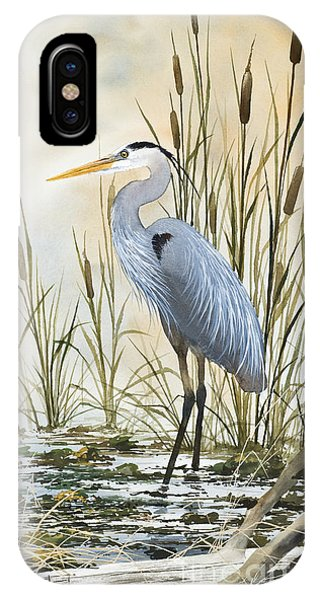 Heron iPhone Case - Heron And Cattails by James Williamson