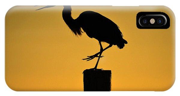 Heron At Sunrise IPhone Case