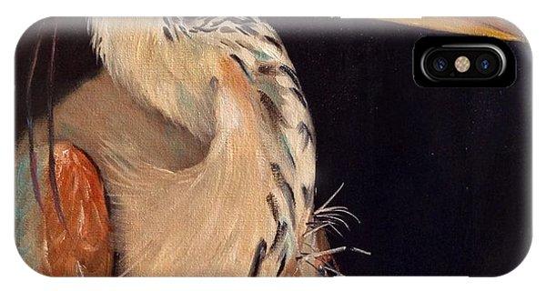 iPhone Case - Heron Gazing by Karen Langley